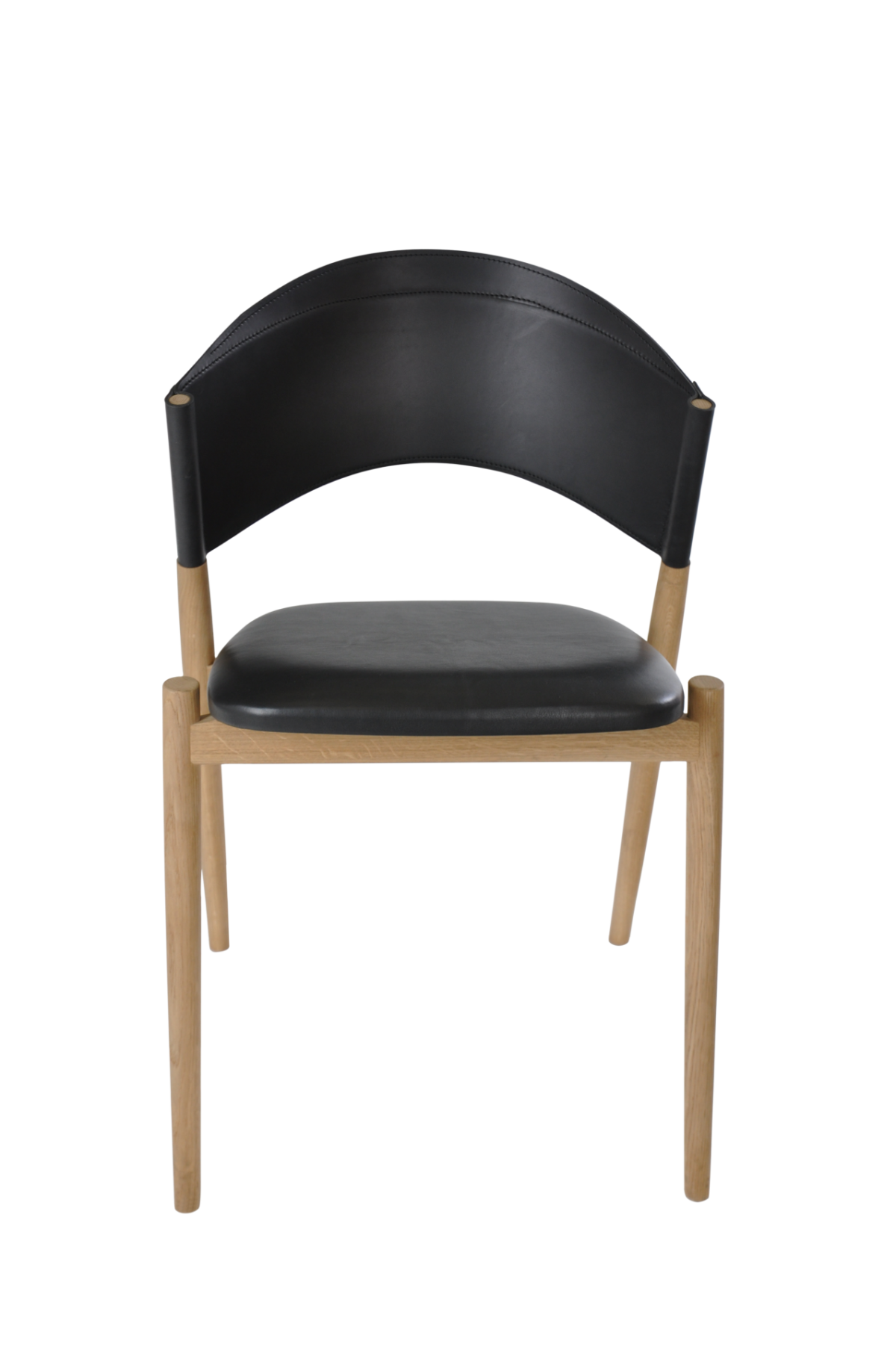 A Chair front black leather