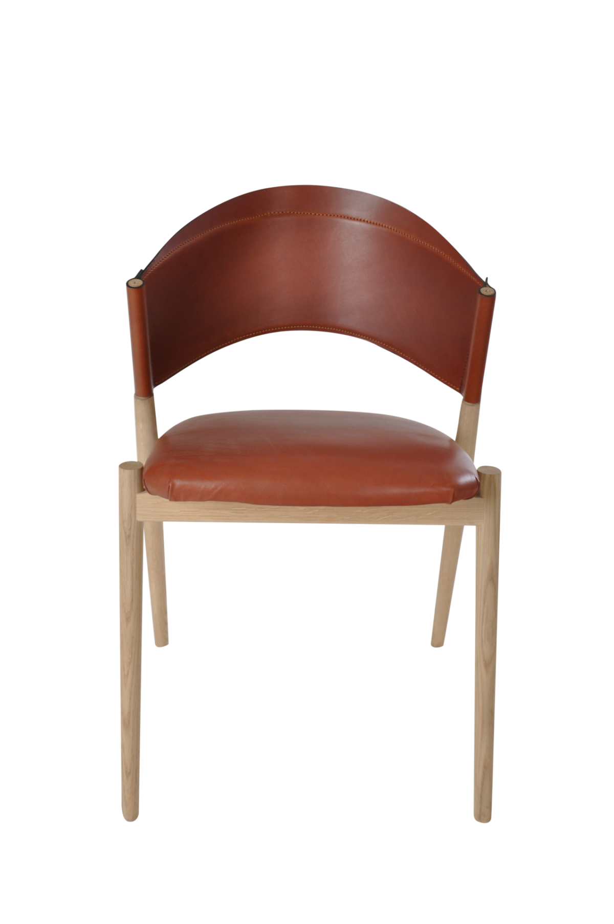 A Chair front cognac leather 1