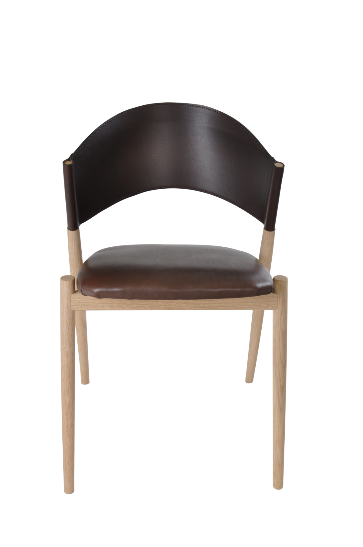 A Chair front mocca leather