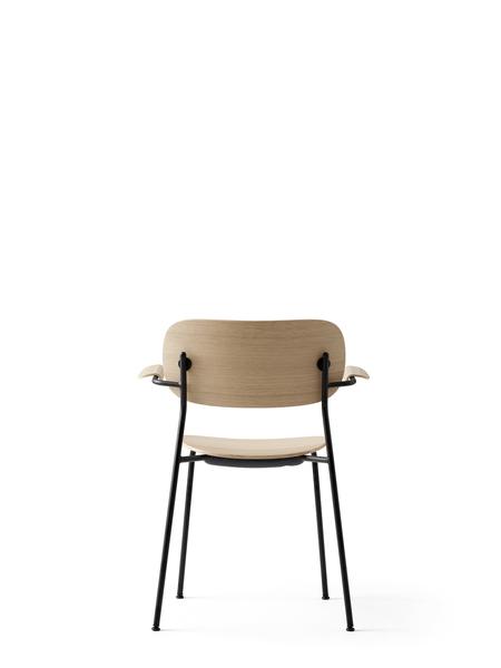 1165039 Co Chair Black Base Natural Oak w Armrest 4
