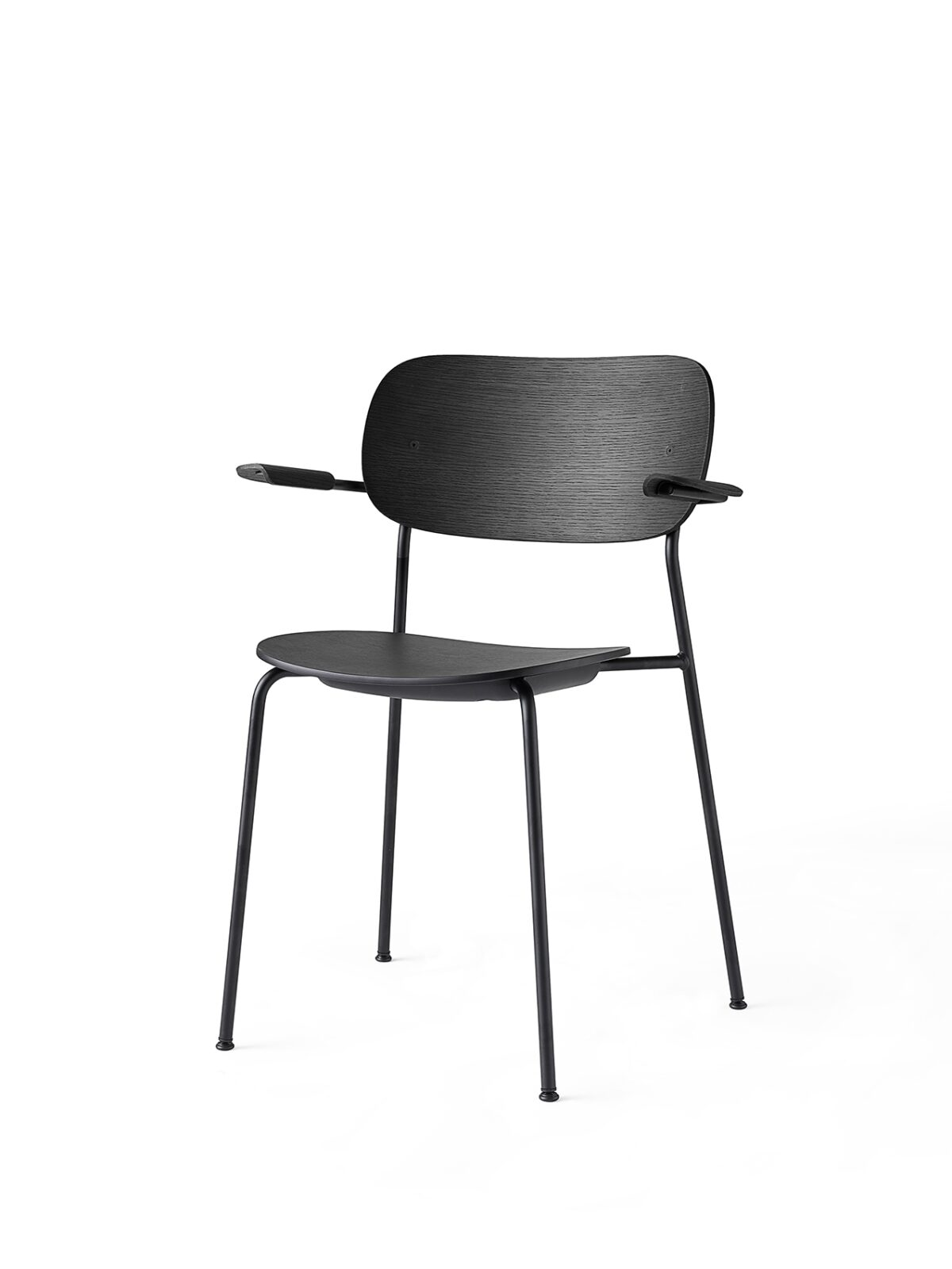 1166539 Co Chair Black Base Black Oak w Armrest 3 2