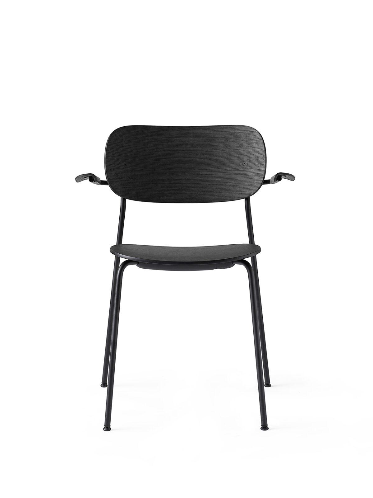 1166539 Co Chair Black Base Black Oak w Armrest 4