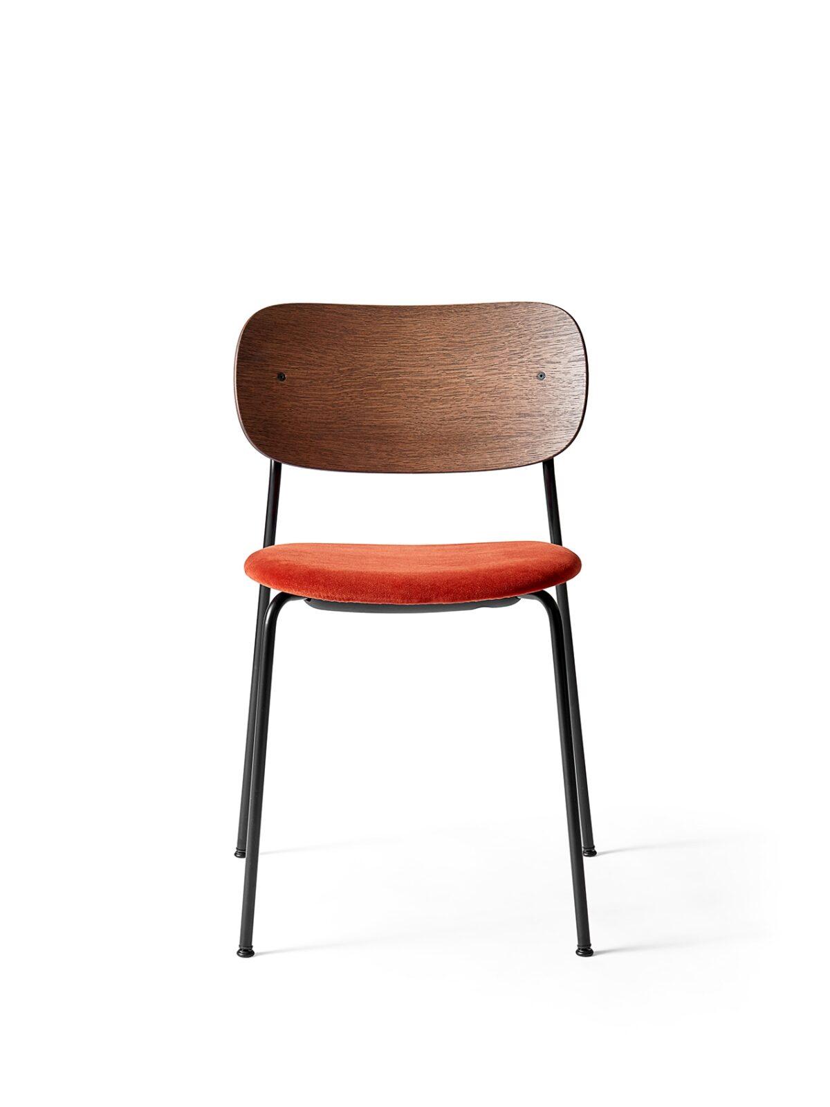 1166849 Co Dining Chair Dark Stained Oak City Velvet CA7832 062 front