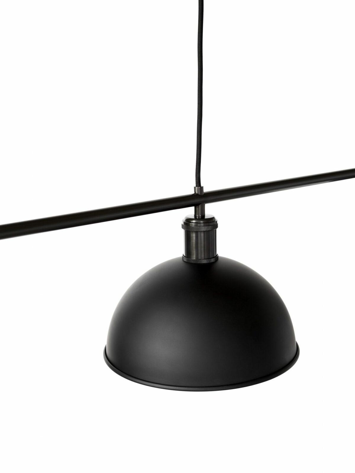 1937859 Hubert Suspension Lamp Black Bronzed Brass 2 1 1