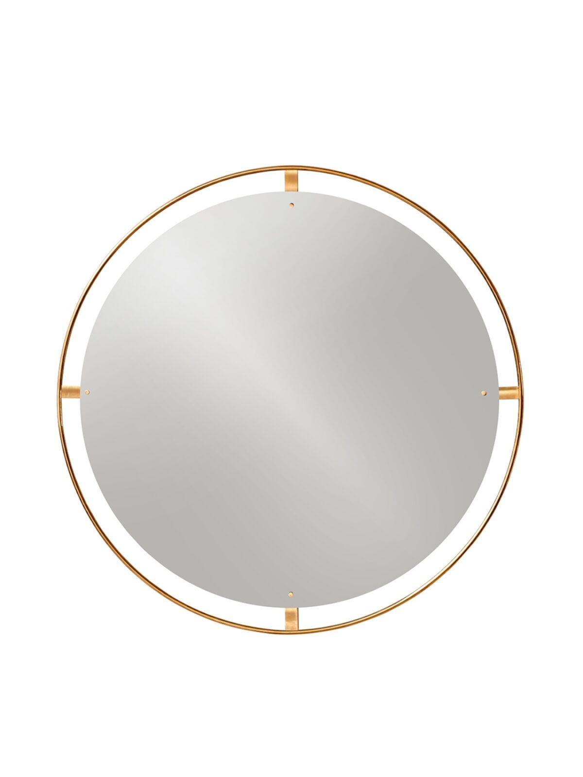 8031839 Nimbus Mirror 110 brass
