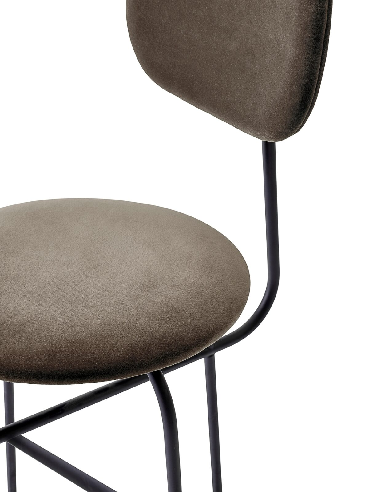 8465989 Afteroom Dining Chair Plus CityVelvetCA7832 078 Black CloseUp