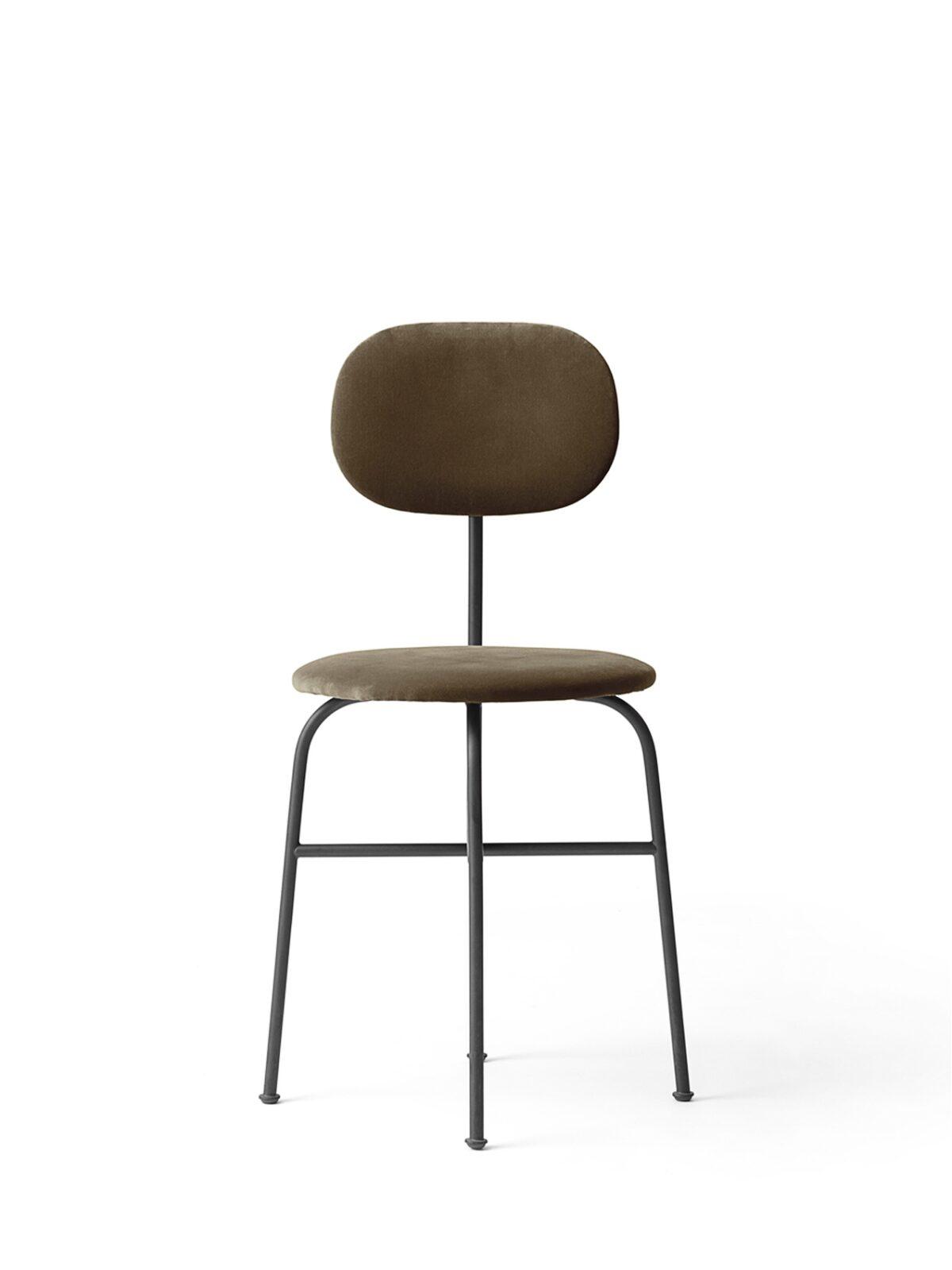 8465989 Afteroom Dining Chair Plus CityVelvetCA7832 078 Black Front