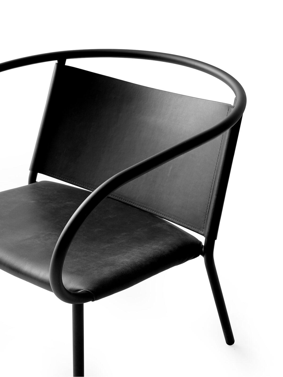 8860539 Afteroom Lounge Chair Dunes Black detail 2
