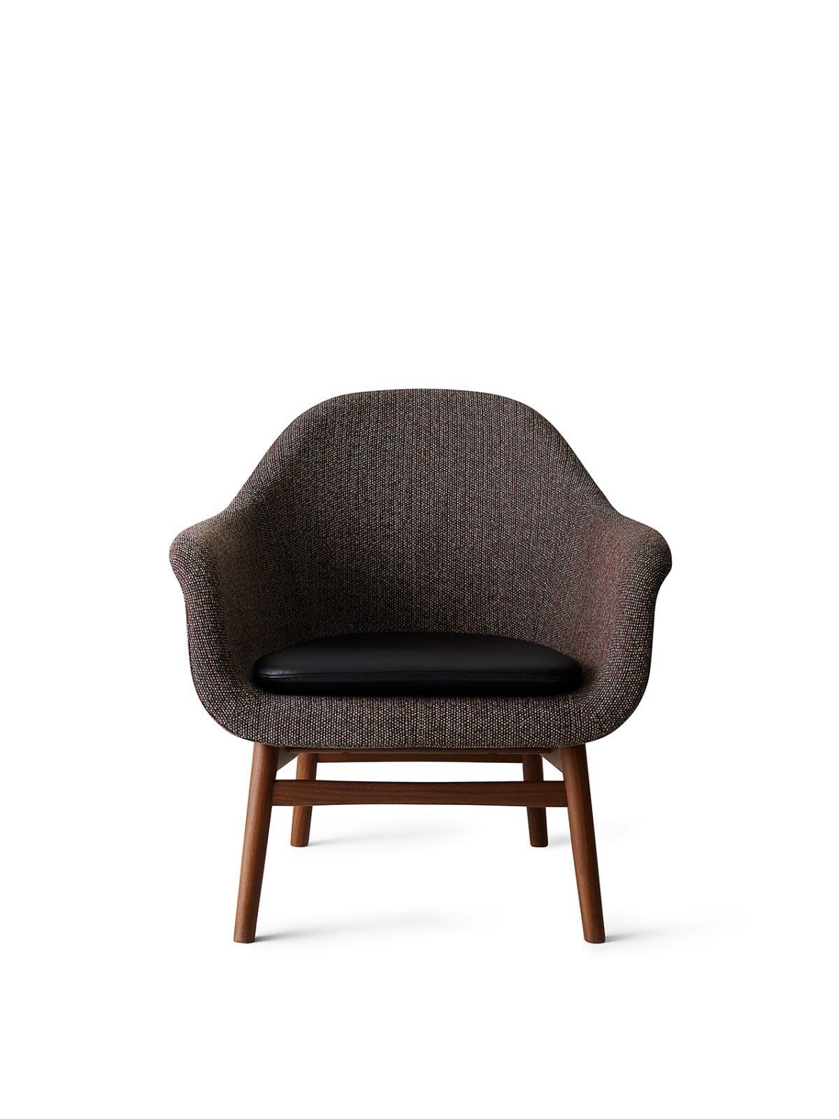 9255549 Harbour Lounge Low back Walnut Savanna 675 Shade Pitch black cushio front new