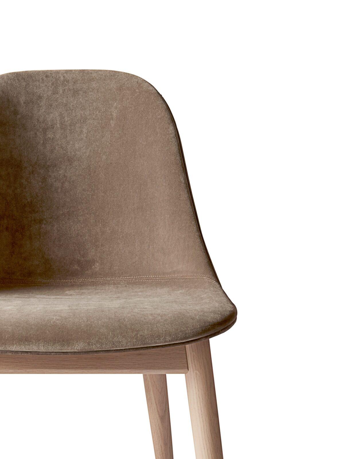 9270989 Harbour Side Chair Natural Oak City Velvet CA7832 078 detail