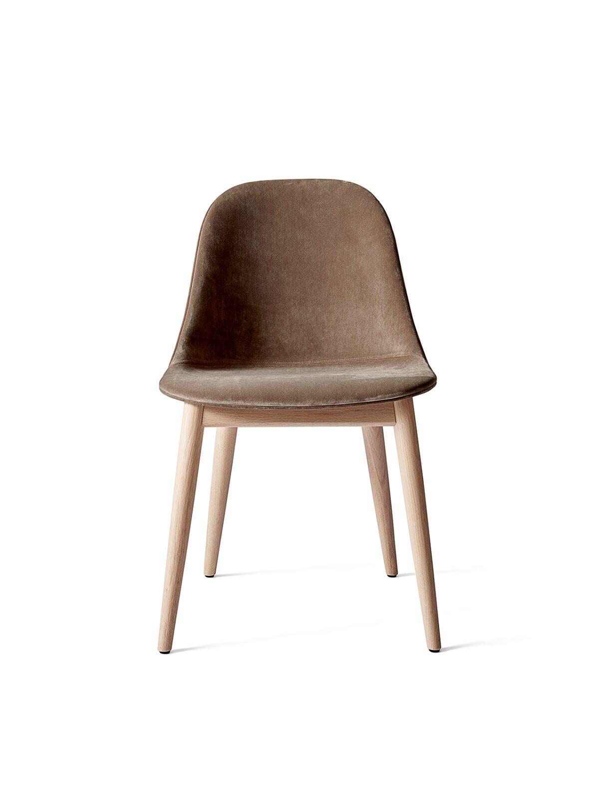 9270989 Harbour Side Chair Natural Oak City Velvet CA7832 078 front