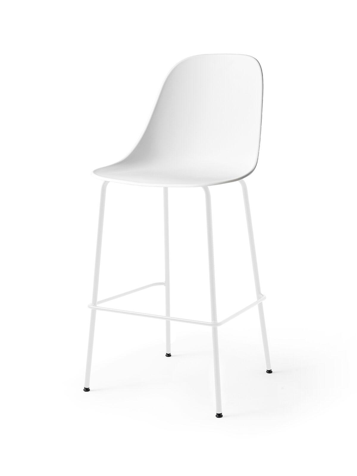 9281639 Harbour Side Bar Chair White LightGrey Angle
