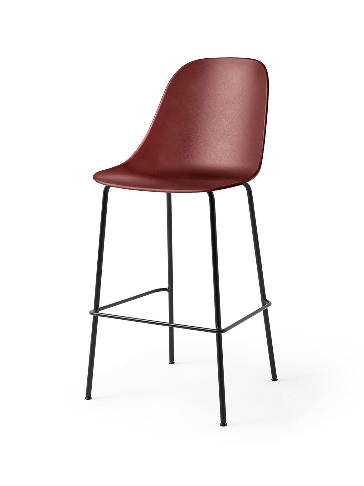 9285349 Harbour Side Bar Chair BurndRed Black Angle 1