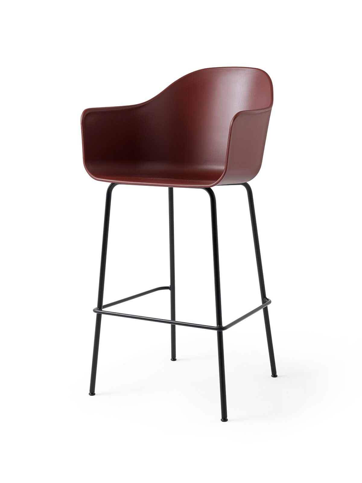 9345349 Harbour Chair Bar BurnedRed Black Angle 1