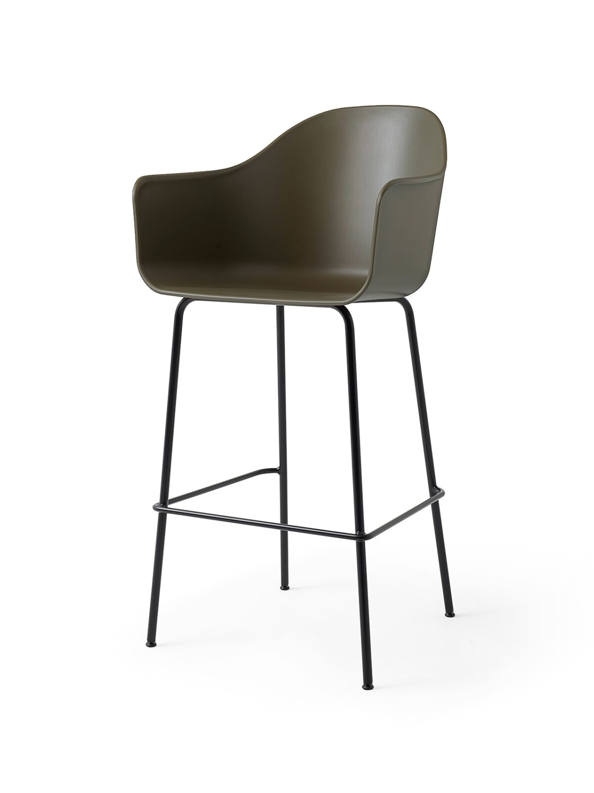 9345429 Harbour Chair Bar Olive Black Angle
