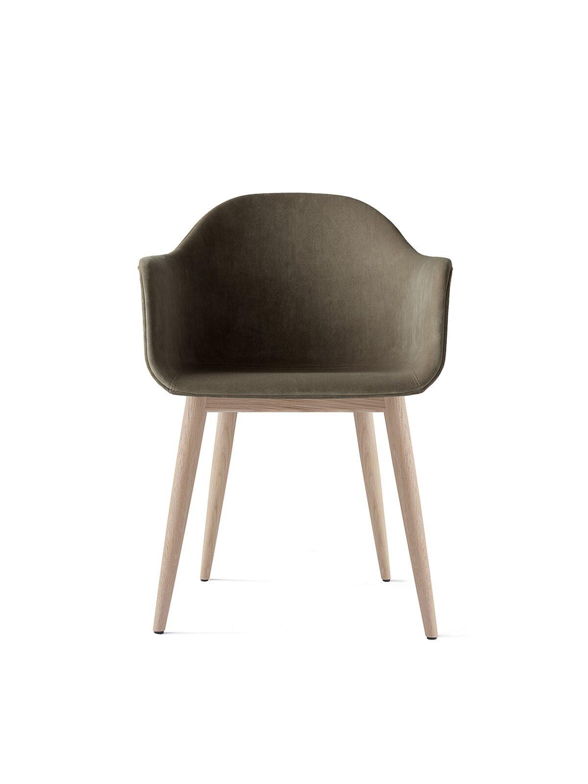 9350989 Harbour Chair CityVelvetCA7832 078 NaturalOak Front