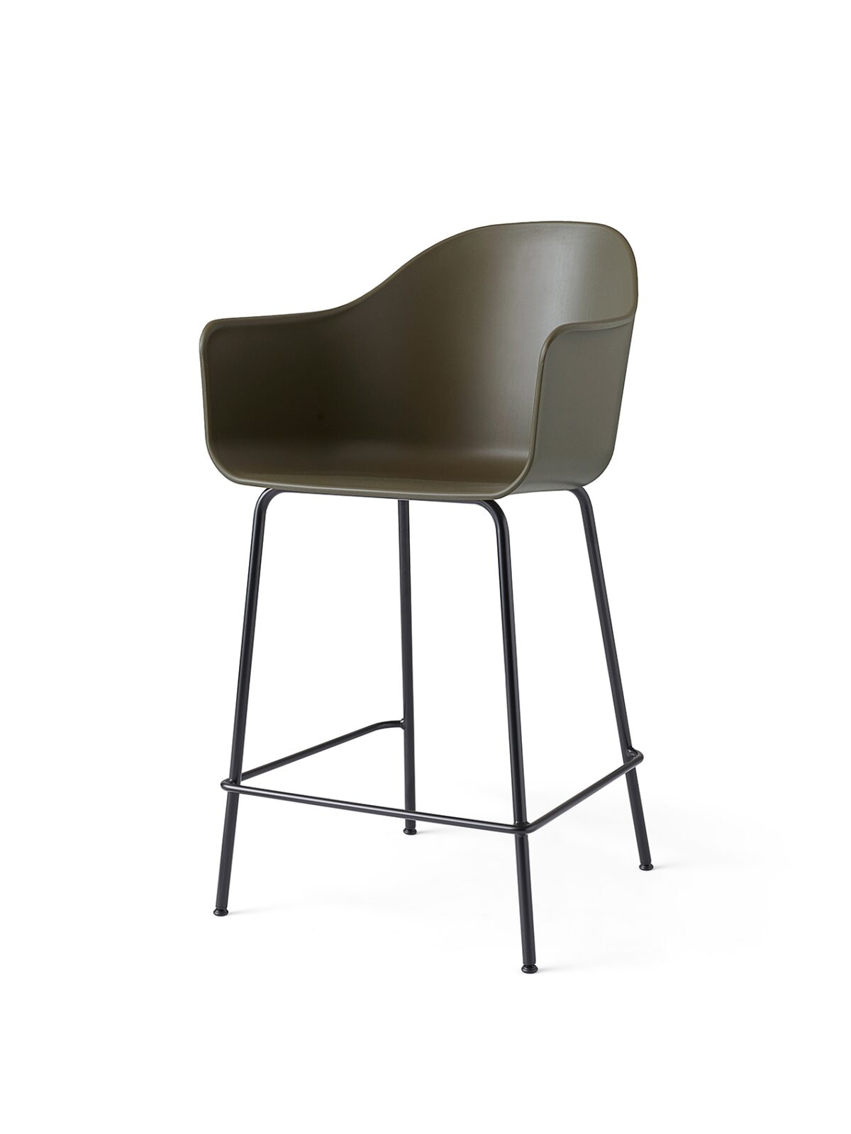9361139 Harbour Chair Counter Olive Black Angle 1