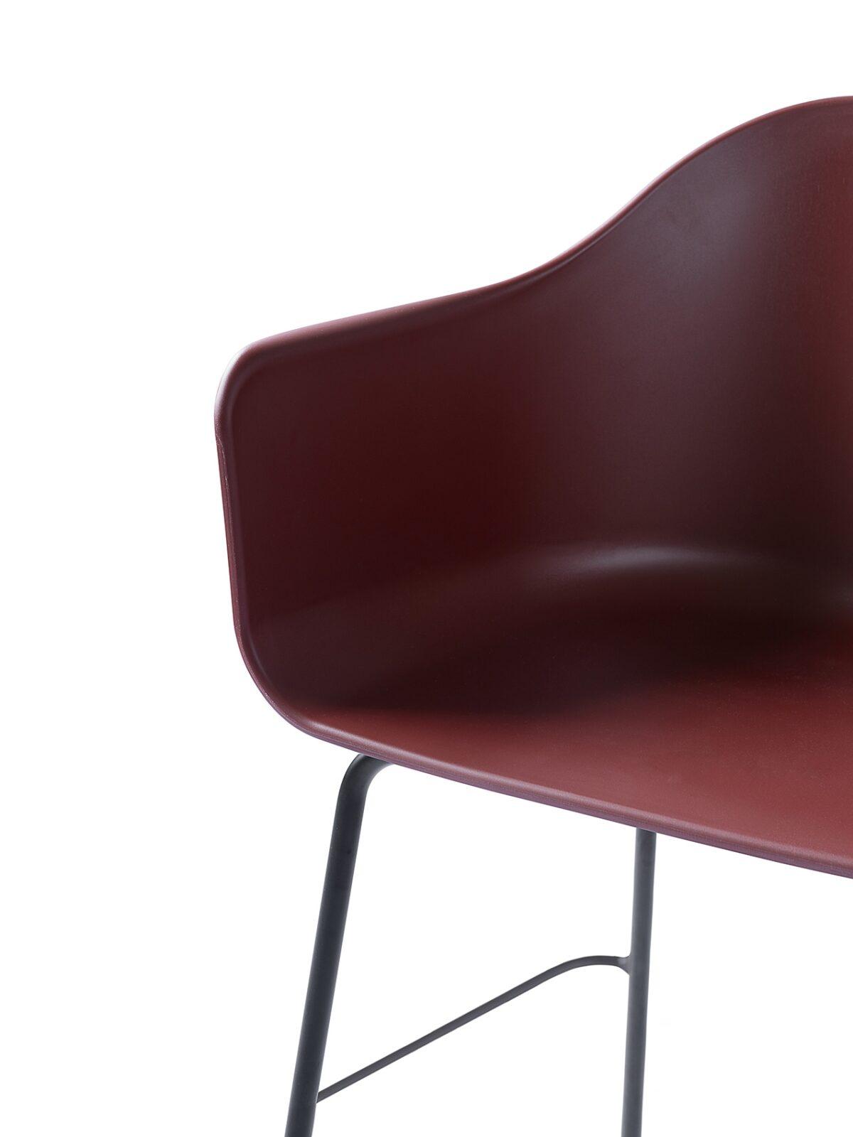 9365349 Harbour Chair counter burndred Black Detail