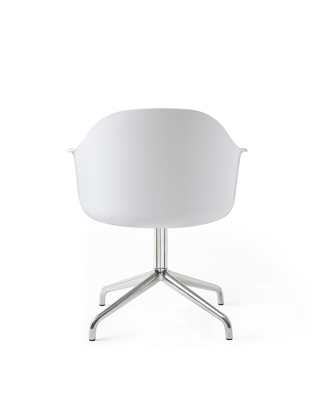 9370639 Harbour Chair Swivel White Steel Back