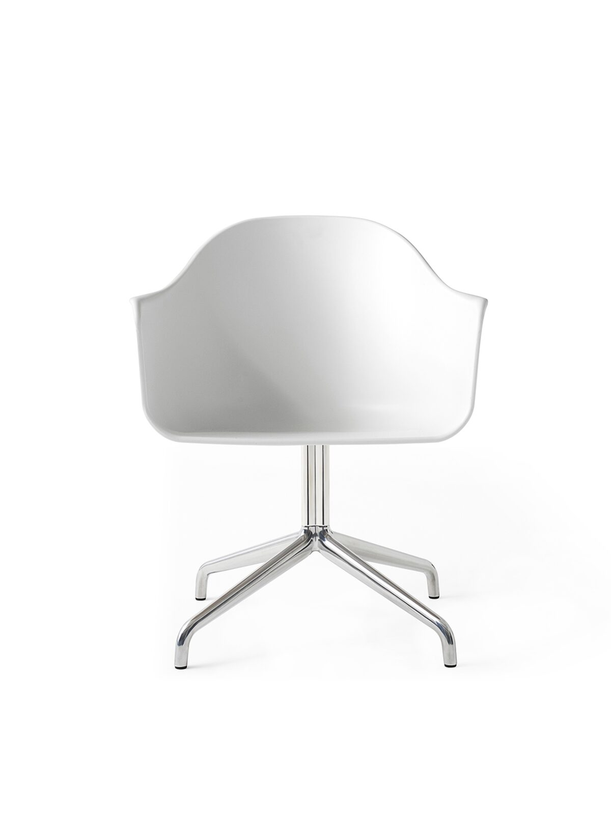 9370639 Harbour Chair Swivel White Steel Front