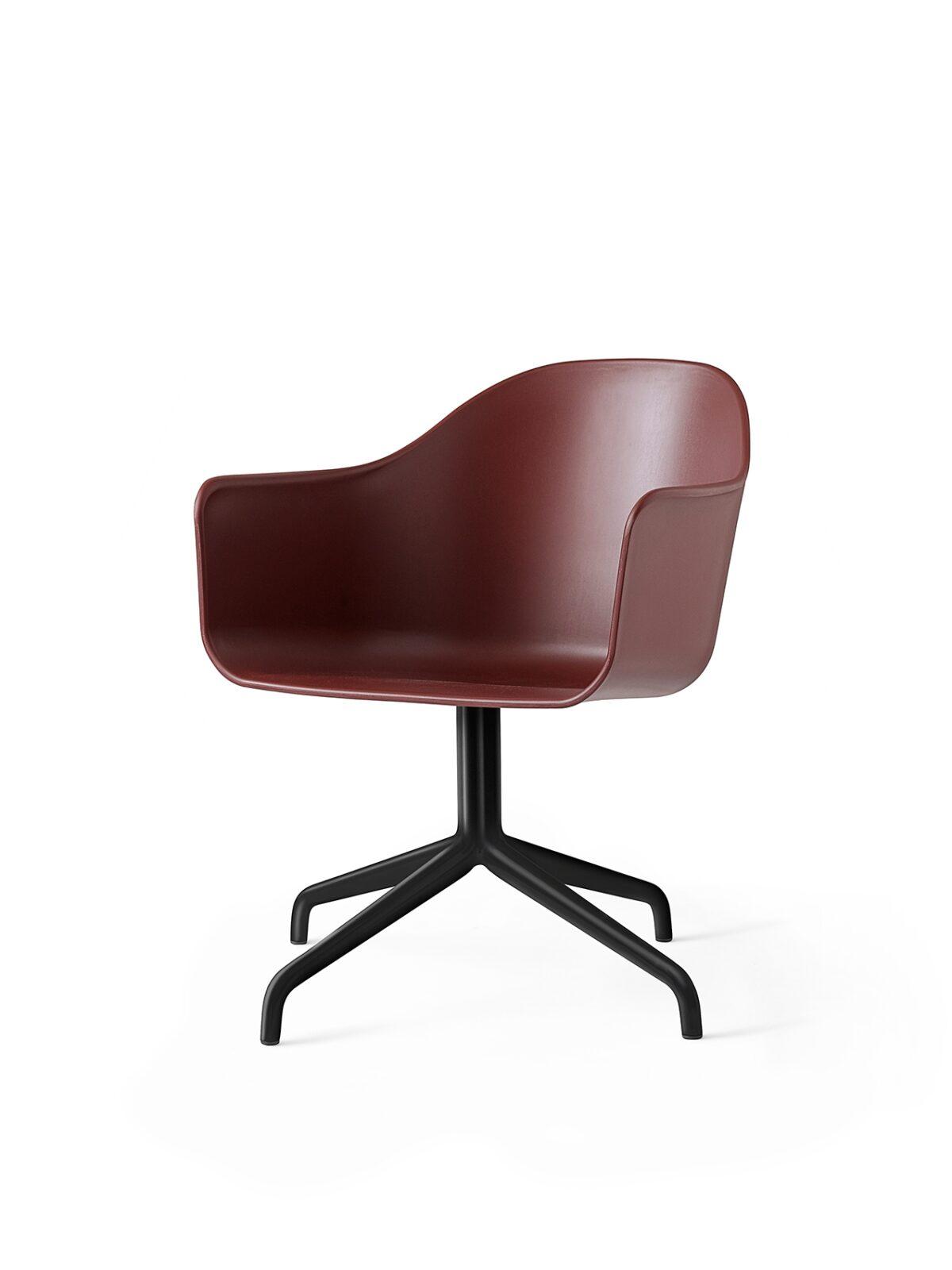 9375349 Harbour Chair Swivel BurnedRed Black Angle