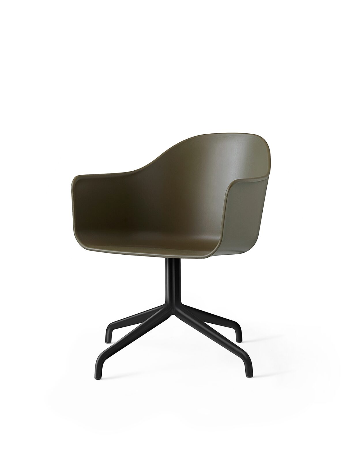 9375429 Harbour Chair Swivel Olive Black Angle