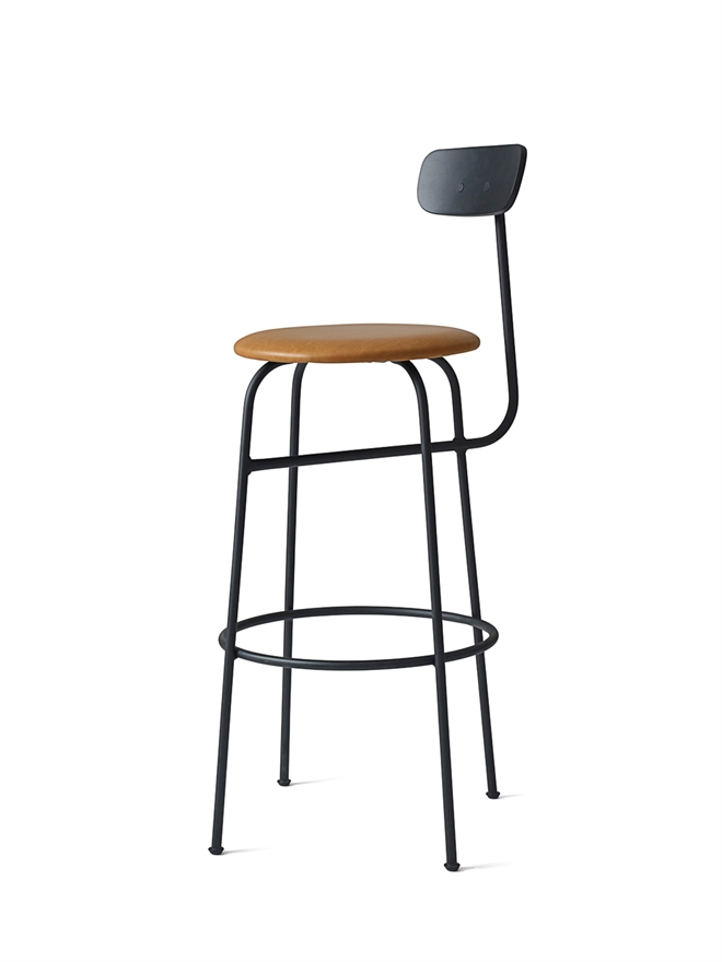 9416530 Afteroom Bar Chair Black Cognac Pack Angle