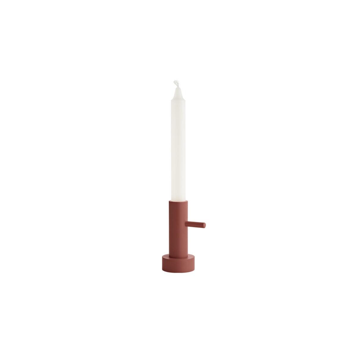 Fritz Hansen Candelholder Single 1 Terracotta Glashuset Malmo