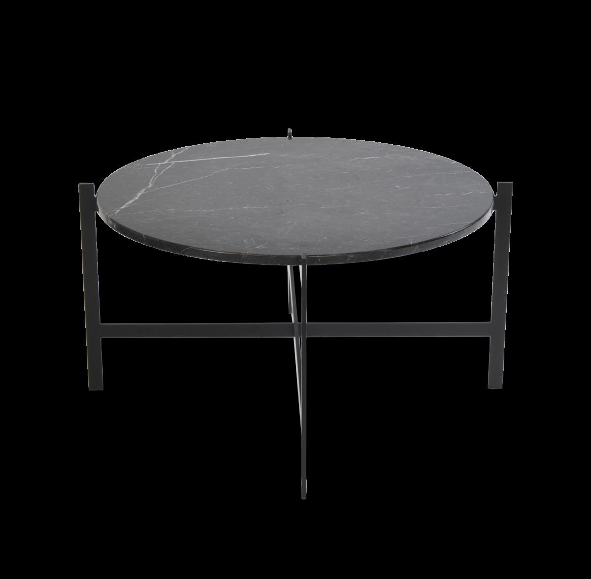 Large Deck Table black frame black marble