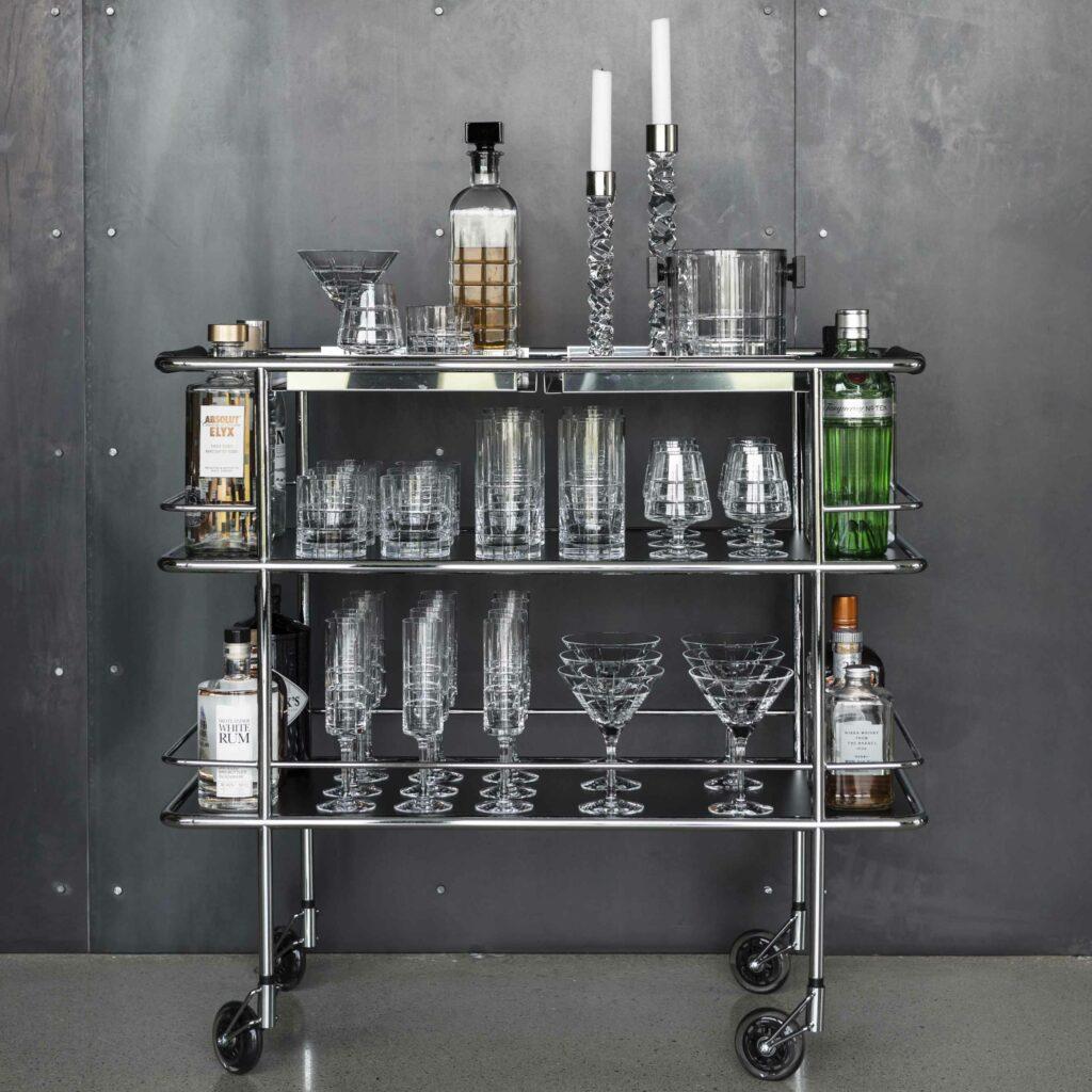 Orrefors Street Drinkvagn 36 delar Glashuset Malmo