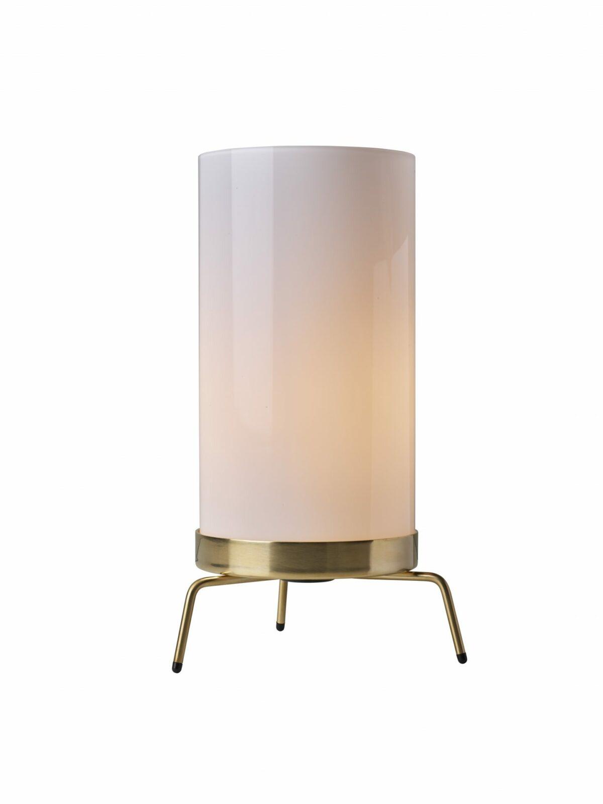 PM 02 table lamp  Opal Brass w. light
