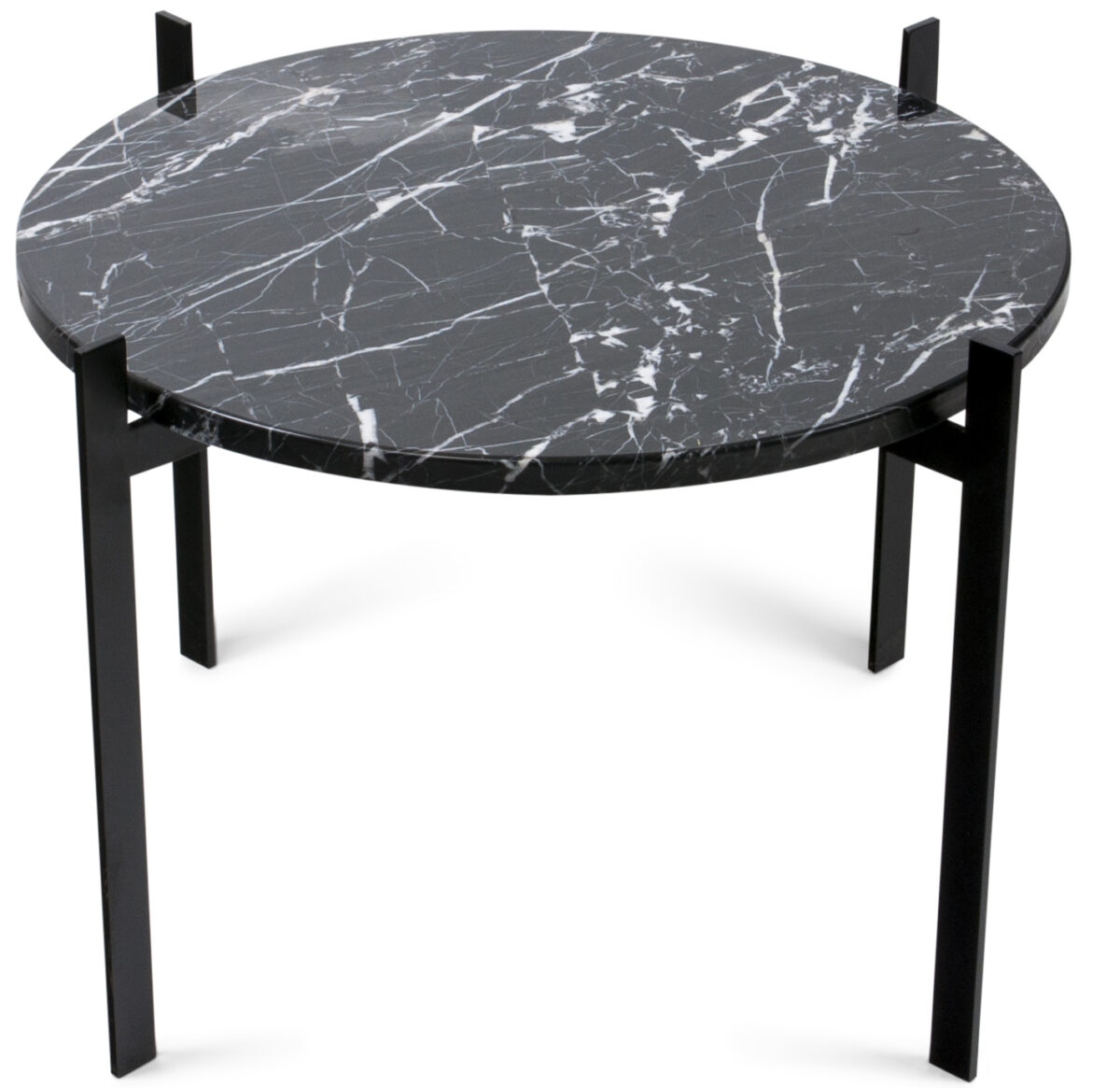 Single Deck Table black frame black marble