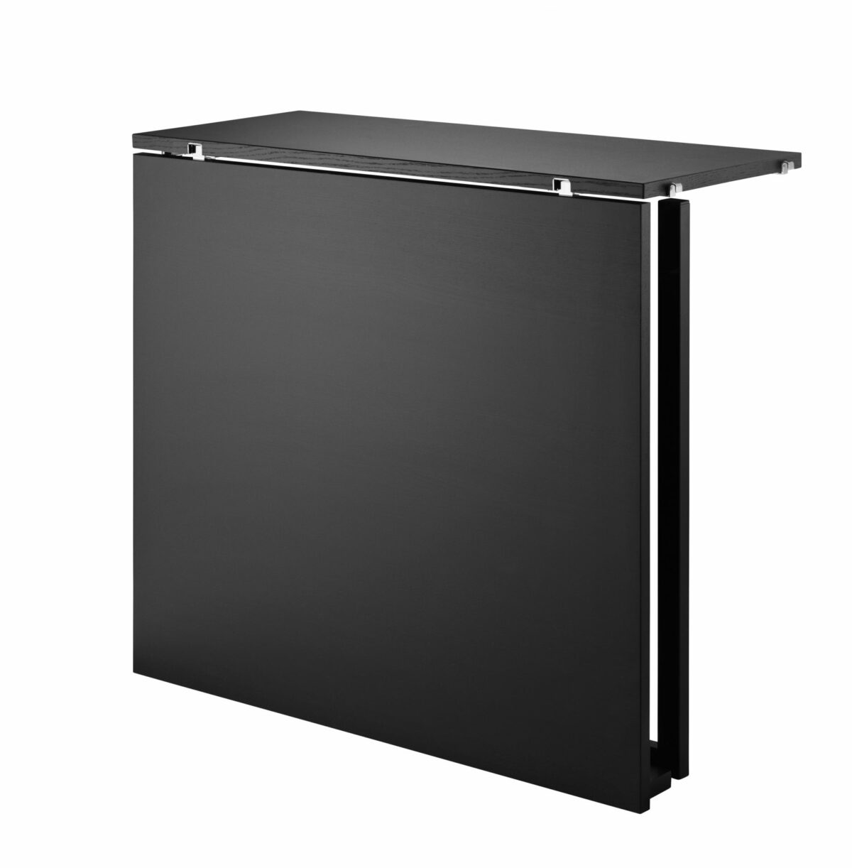 product folding table blackstained ash black