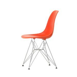 2779031 Eames Plastic Side Chair DSR 03 poppy red 01 chrome left master 1