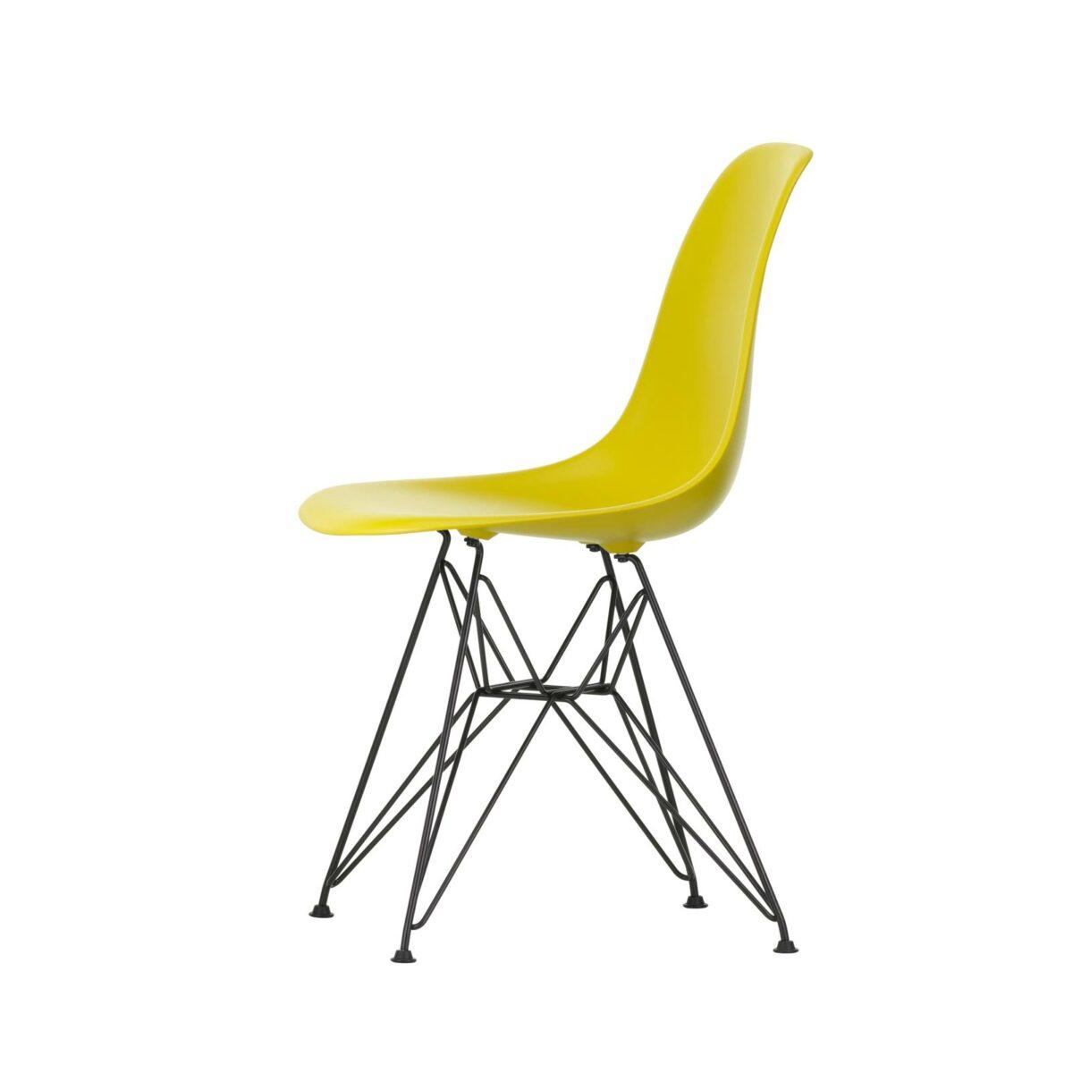 2779115 Eames Plastic Side Chair DSR 34 mustard 30 basic dark powder coated left master