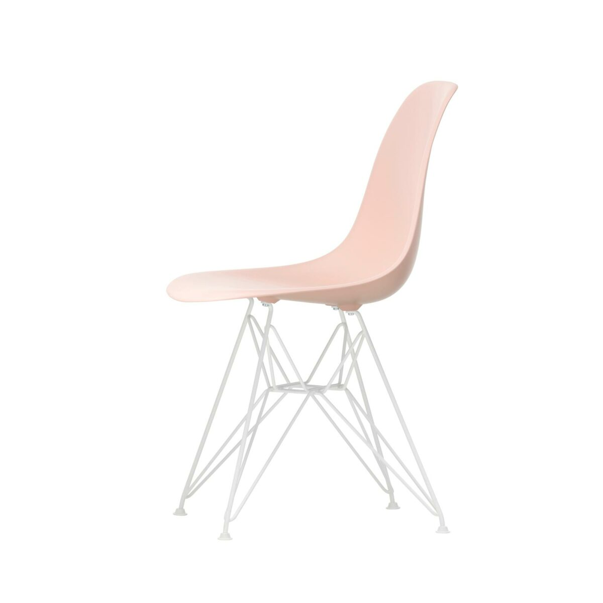 3034964 Eames Plastic Side Chair DSR 41 pale rose 04 white powder coated left master