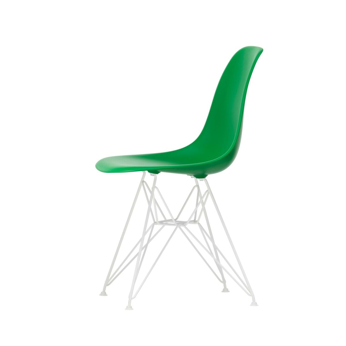 3034968 Eames Plastic Side Chair DSR 42 green 04 white powder coated left master
