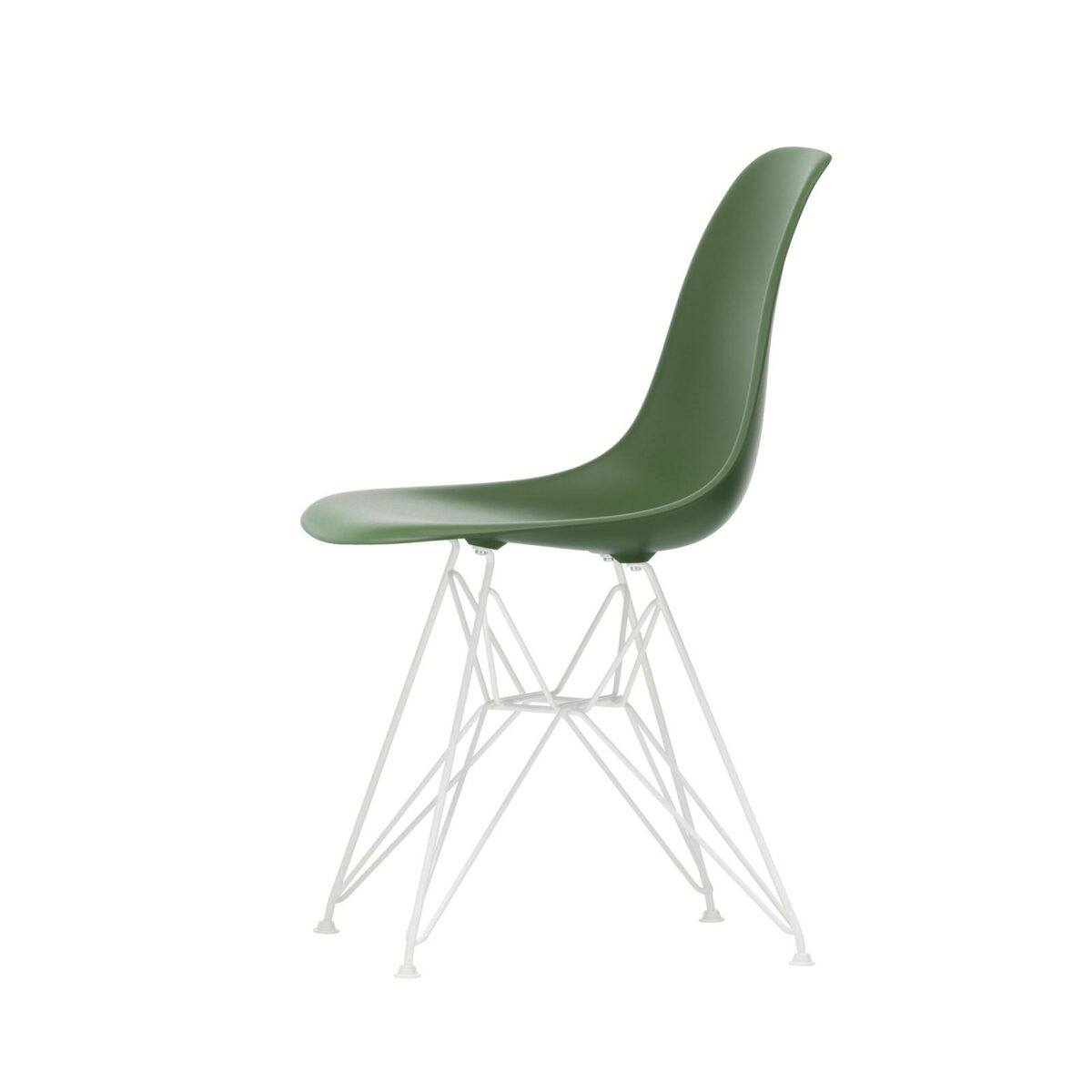 3034976 Eames Plastic Side Chair DSR 48 forest 04 white powder coated left master