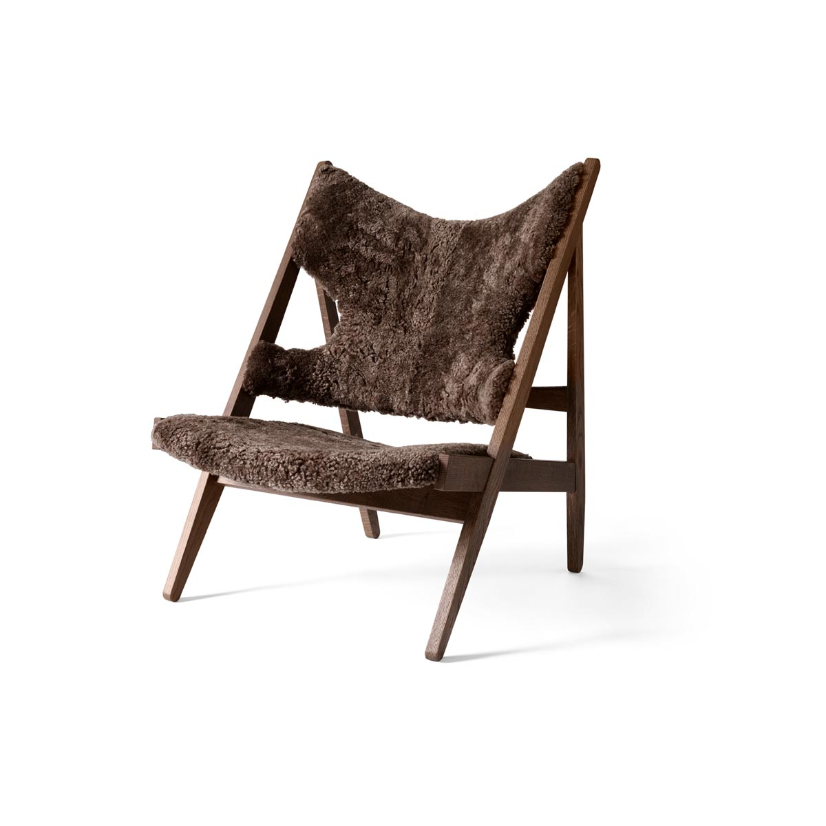 9680939 Knitting Lounge Chair Dark Stained Oak Drake 22 Angle 1