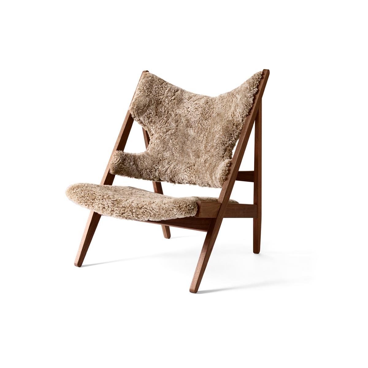 9682919 Knitting Lounge Chair Walnut Cork 19 Angle 1
