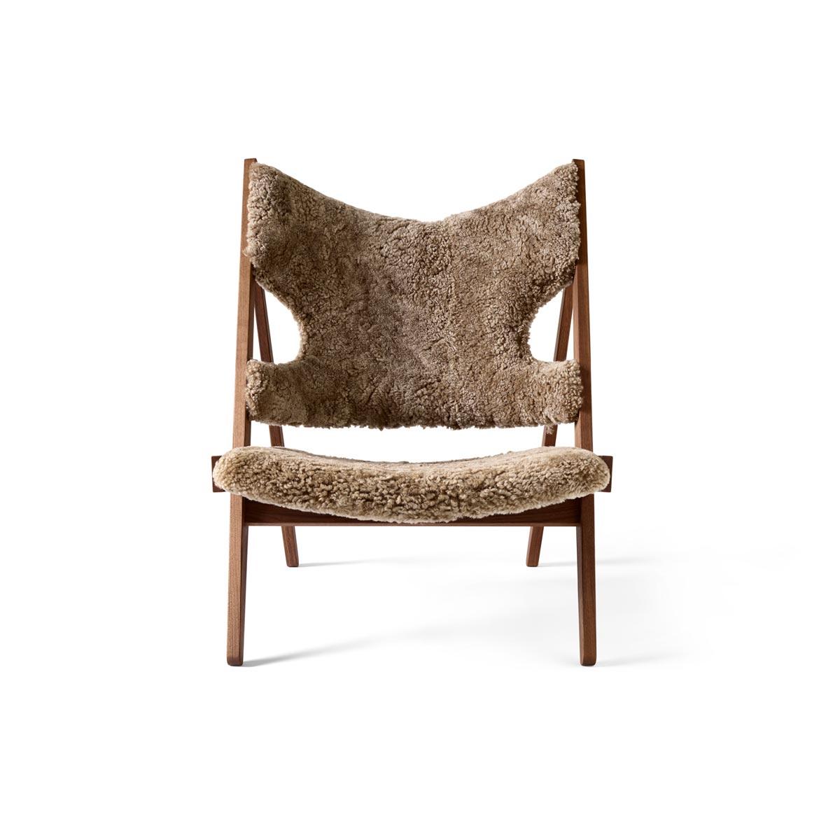 9682919 Knitting Lounge Chair Walnut Cork 19 Front 1 1