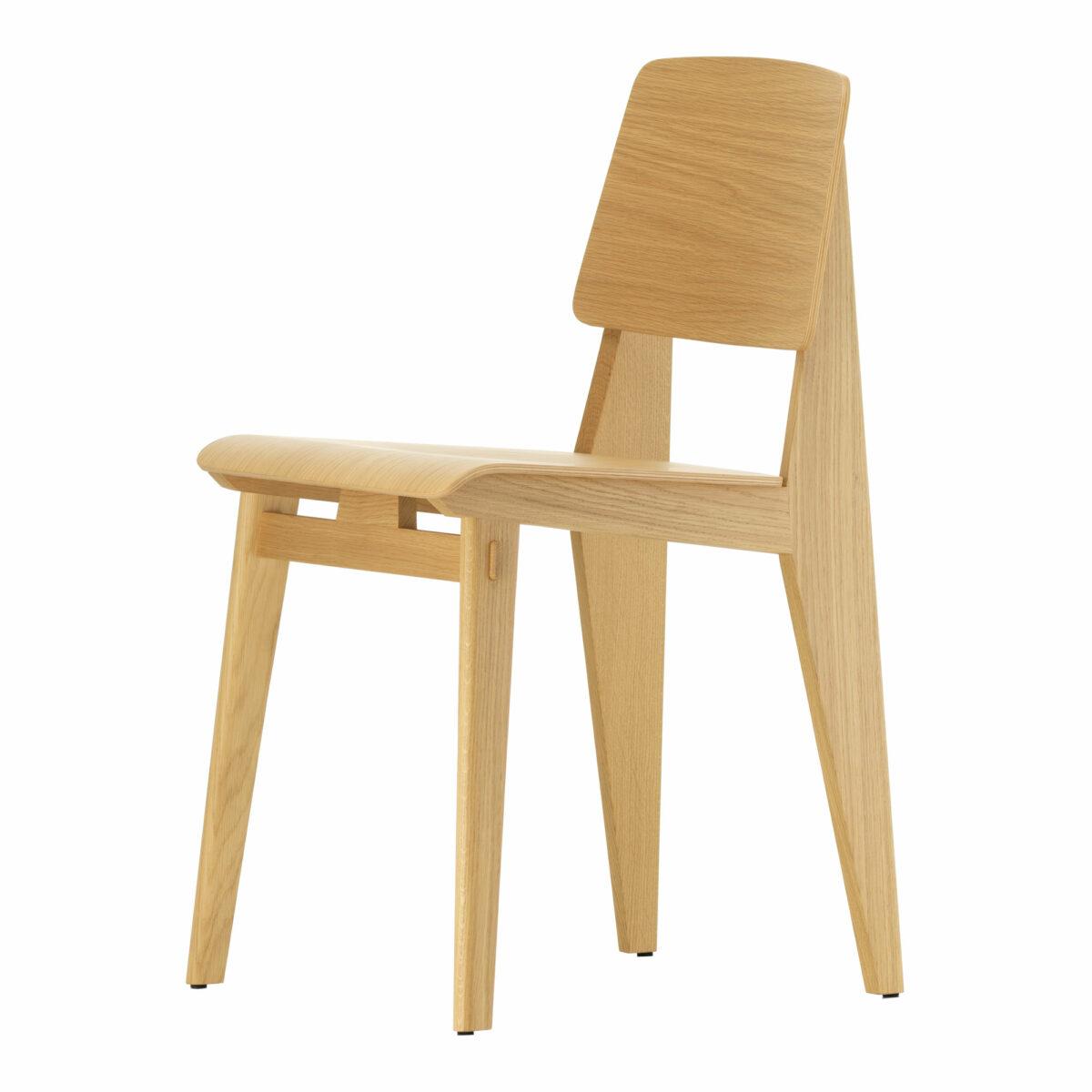 vitra chaise tout bois natural oak