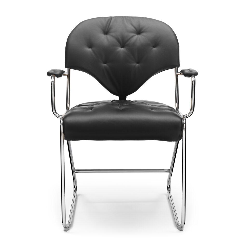 sam armchair black front new
