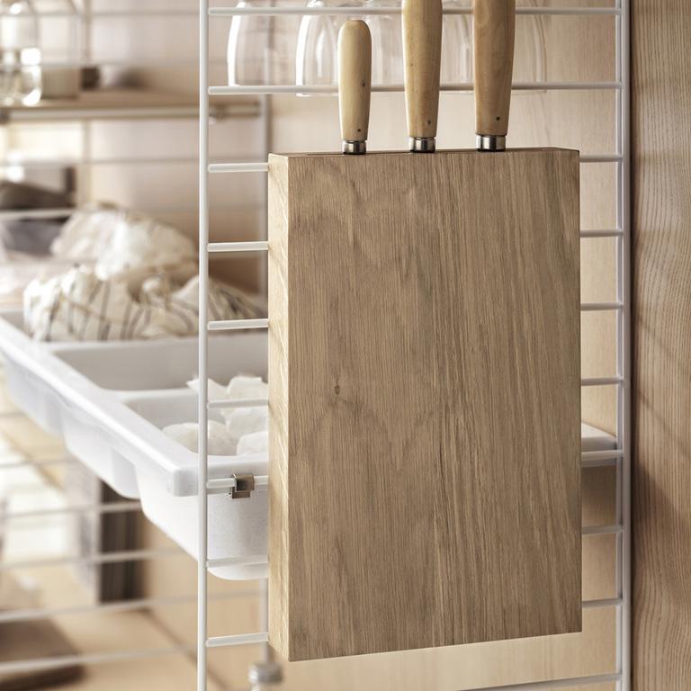 inspiration string system kitchen knife holder white ash portrait medium