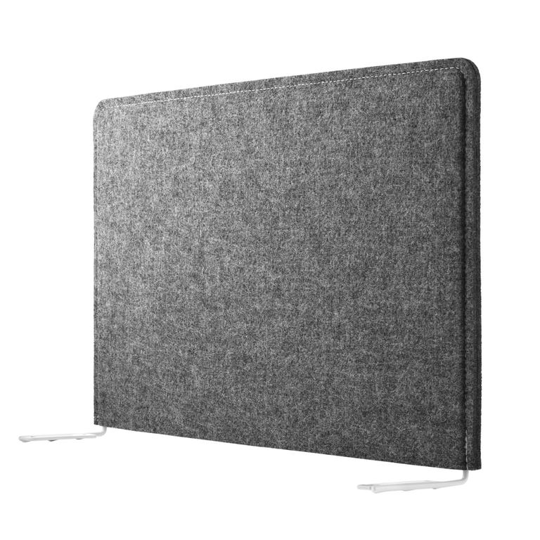 product fabric sleeve grid work desk felt grey
