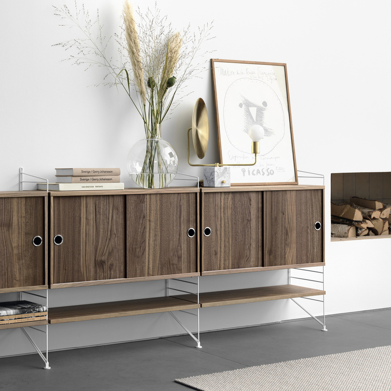 string system livingroom walnut sideboard landscape medium