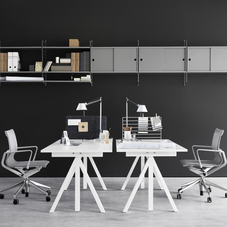 string works workspace white grey landscape medium
