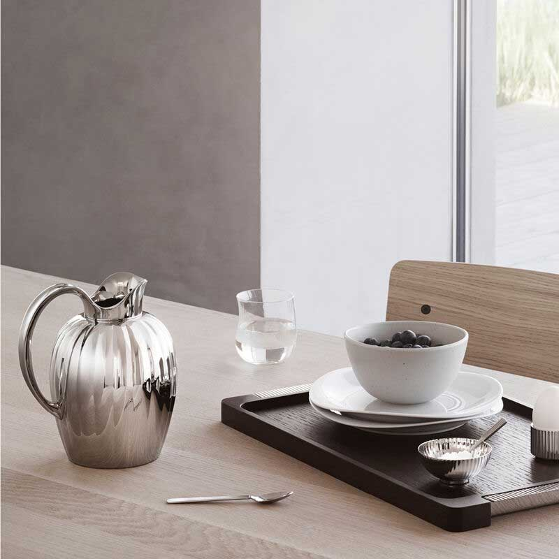 OnModel BERNADOTTE TRAY WOOD AND STAINLESS STEEL