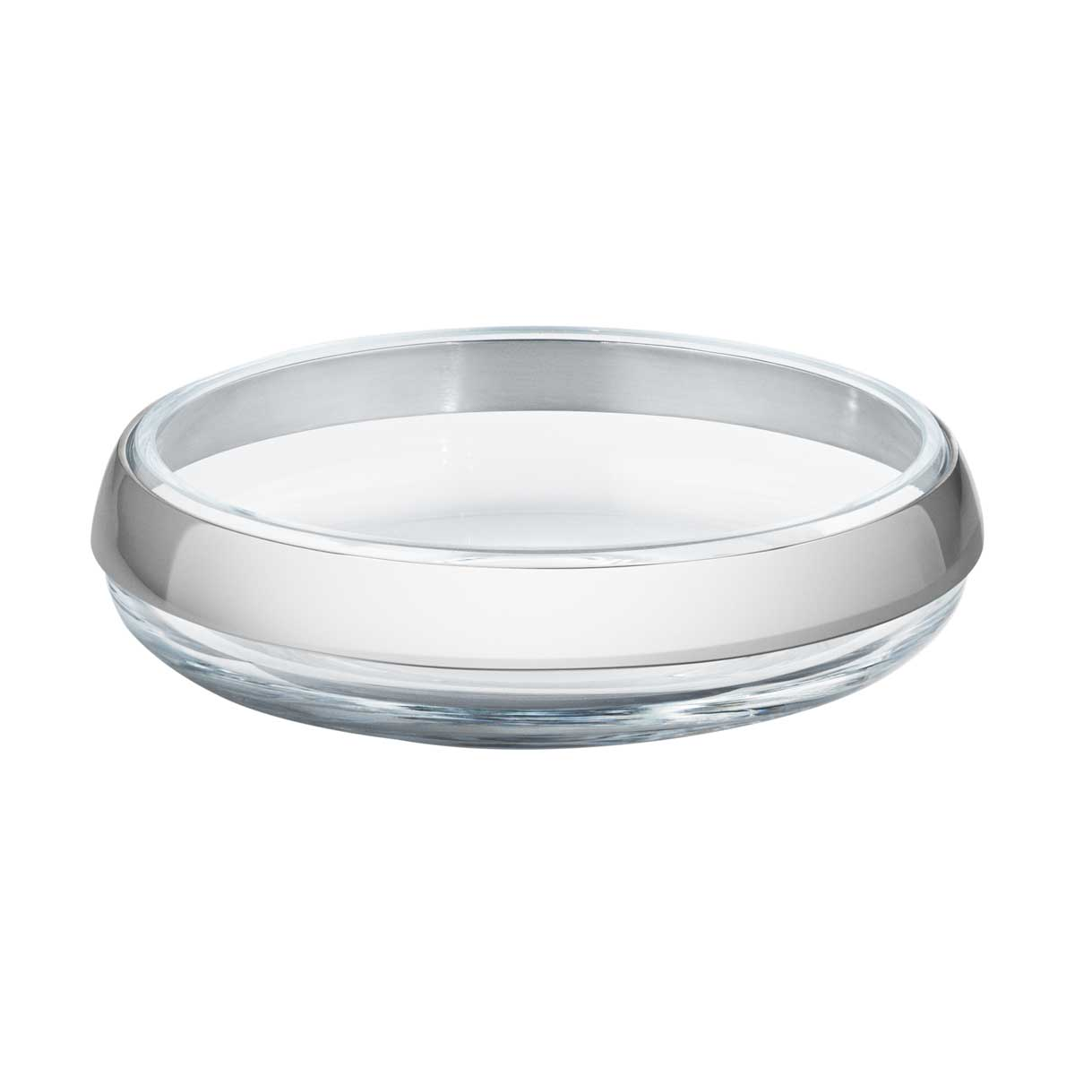 pack 10016978 DUO ROUND BOWL COLLAR SS AND GLASS SMALL