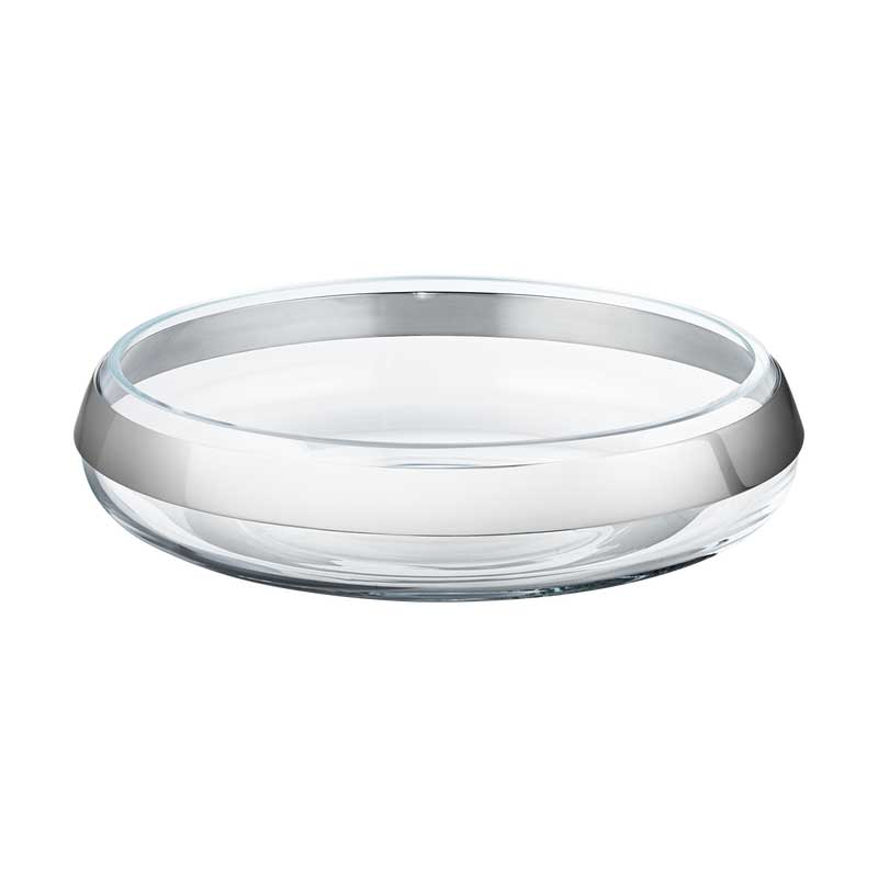 pack 10016979 DUO ROUND BOWL COLLAR SS AND GLASS MEDIUM